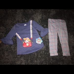 NWT Girls Paw Patrol Outfit 3T Long Sleeve & Pants